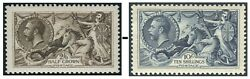 King George V Seahorses Sg 399-sg 452 Lightly Mounted Mint Single Stamps