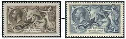 King George V Seahorses Sg 399-sg 452 Very Fine Used Single Stamps