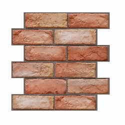 3 Dimension Red Brick Water resistant Moistureproof Removable Self Adhesive E6Y9