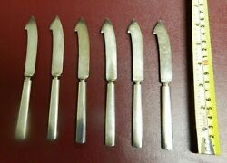 Antique Goodell Company Pat. Aug 5 1902 Set Of 6 Butter Bayonet Knives