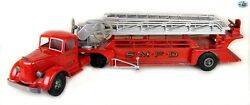 Fine Red 1950 S.m.f.d 3 Smith-miller California Toys Aerial Ladder Fire Truck
