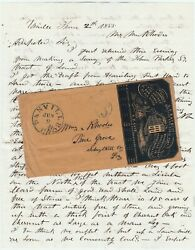 Rare Letter And Cover 1855 Spiritualism Abraham Lincoln Fire Pump Kase Danville Pa