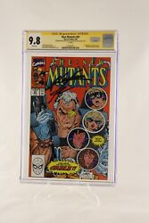 New Mutants 87 Cgc 9.8 1st Appearance Of Cable Signed J. Brolin And R. Liefeld