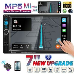 7 Inch Car Stereo Radio Hd 2din Mp5 Player Touch Screen Bluetooth Usb Tf Aux In