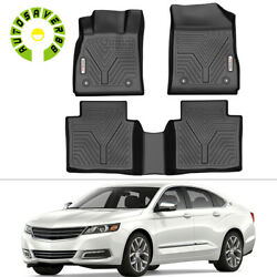 Floor Mats For 2014-2020 Chevrolet Impala All-weather Tpo Rubber 1st And 2nd Row