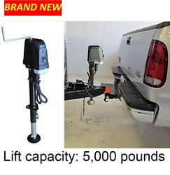 Trailer Jack 5.000 Pounds Lift Capacity Electric 7 Way Connector