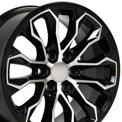 17x8 Black Machined Rims Set Fits Chevrolet Colorado Zr2 And Gmc Canyon 5891