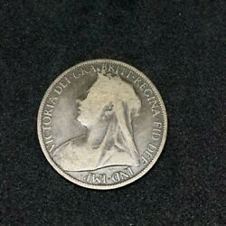 1900 Britain England British English Large Cent Penny Currency Queen Victoria