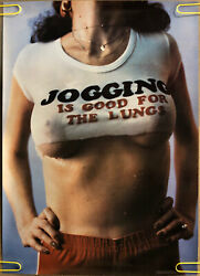 Vintage Poster Jogging Lungs Running Dorm Room Man Cave Pin up Sexy 70s Health