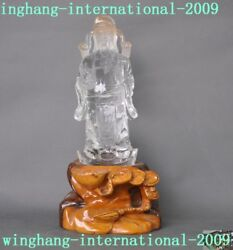 10100 Natural Crystal Chinaese Temple Carving Yuanbao Wealth God Mammon Statue