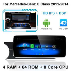 Android 10 Car Gps Wifi Unit Wireless Carplay For Mercedes Benz C Class 2011-14