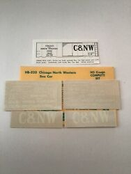 Champ Decals Ho Scale Hb-320 Chicago North Western Cnw Box Car H-3