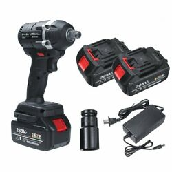 288vf 630n.m Electric Impact Wrench 3 In 1 Brushless Cordless Led With 2