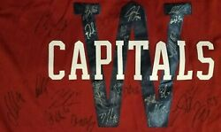 Washington Capitals 2015 Winter Classic Jersey Autographed By Team
