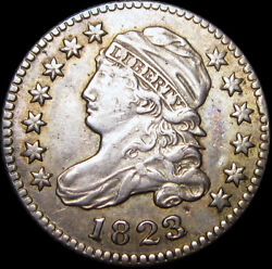 1823/2 Capped Bust Dime ---- Stunning Type Coin ---- J207