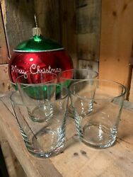 USED Pottery Barn Spiral Wrought Iron Glass Votive Candle 4 REPLACEMENT GLASSES