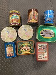 Vintage Advertising Merchandise Candy Cookie Tins Lot Of 9 Rare