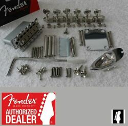 Fender 2 3/16 W2 1/16 String Space Stratocaster Hardware Set Tuners 007-2290-000