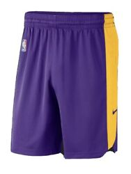 New Nba Nike Los Angeles Lakers Issue Dri-fit Practice Shorts 2021 Xl Lebron