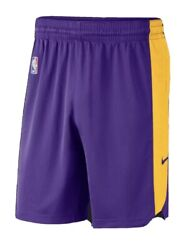 New Nba Nike Los Angeles Lakers Issue Dri-fit Practice Shorts 2021 2xl Lebron