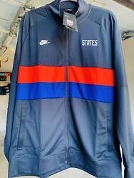 Nike Usa Anthem Soccer Jacket Navy Red Ci8375-475 Le White Size Mans Xl Only