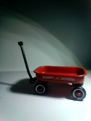 Kids Doll Mini Wagon Red Cart Vintage Pull Radio Flyer Classic Buggy Used H1