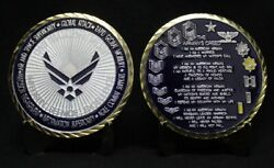 Us Air Force Airman's Creed Challenge Coin Military Collectible Coins Large 2