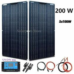 Solar Panel Cell Flexible Photovoltaic System Ce 20a Controller Cable Free Tools