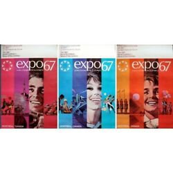 Expo 67 Original Vintage Family Posters Set Of 3