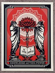 Obey Knowledge + Action Print By Shepard Fairey Signed And Numbered