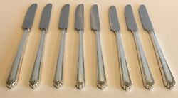 Park Avenue Manchester Silver Co French Hollow Grille Knife Sterling Silver 8 Pc