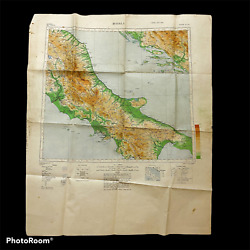 Wwii D-day 'operation Shingle' Battle Of Anzio Allied U.s. Invasion Map