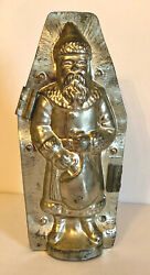 Antique Christmas Santa Chocolate Mold. Made By Heris. Germany. 10 Tall.