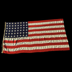 Rare Pacific Fleet Wwii Navy Ensign No. 7 Stamped 48 Star Valley Forge Flag