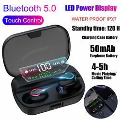 Bluetooth Earbuds for Iphone Samsung Android Wireless Earphone IPX7 WaterProof $13.29