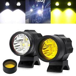 Motorcycle Auxiliary Lights Led Headlights Front Spotlight 30w 3500lm 12v 24v...