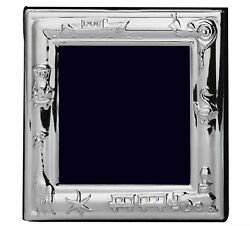 Ag Sterling Silver Baby Themed Christening Frame For Photo 3.5 X 3.5