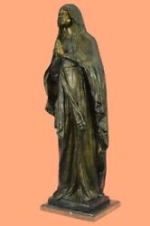 Christian Orthodox Virgin Mary And Jesus Bronze Icon Hand Crafted Lost Wax Decor