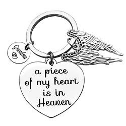 Christmas Keyring Sympathy Gift Memorial Gift Keyring A Piece Of My Heart Is ...