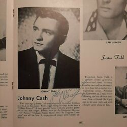 1956 Country Stars Johnny Cash Signed Program Bas Beckett Early Career Signature