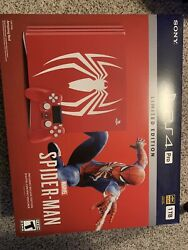 Ps4 Playstation 4 Pro Marvel's Spider-man Limited Edition 1tb New And Sealed