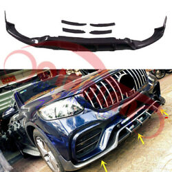 Front Bumper Lip Diffuser Carbon For Mercedes Glc-class 63 S Amg Coupe 2018-2019