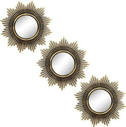 Small Round Mirrors for Wall Decor Set of 3 Great Home Accessories M002