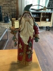 House Of Hatten Santa Claus Carrying Candle Holder 2000 Denise Calla