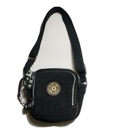 Kipling Crossbody Small Black Bag Purse Lots Of Pockets Expandable $19.95