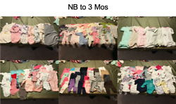 Huge Lot Girl Baby Clothes 720 Items Nb Thru 2t Exc. Cond. 50 Cents Ea
