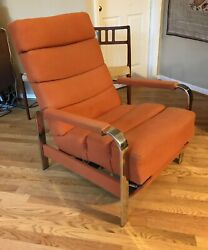 Groovy 1970s Recliner Lounge Chair Designed By Milo Baughman For Thayer-coggin
