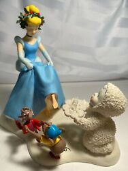 Dept 56 Disney Snowbabies Rare If The Shoe Fits Cinderella Guest Collection