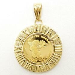 Pamp Angel Coin 24k Yellow Gold 18k Pendant Top About7.3g Free Shipping Used