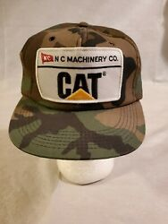 Cat Camo Hat Vintage Trucker Style Insulated Snapback Cap Nc Machinery Co